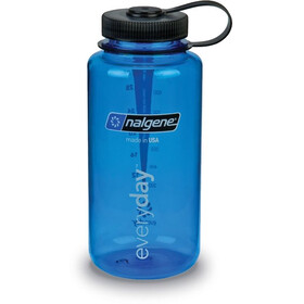 Nalgene 1L Wide Mouth Bottles Blue Tritan (2024)